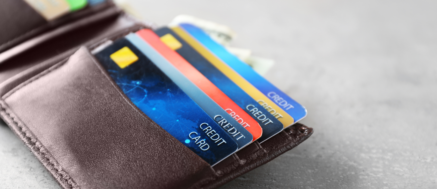Credit cards in a wallet - Upstart Personal Loans