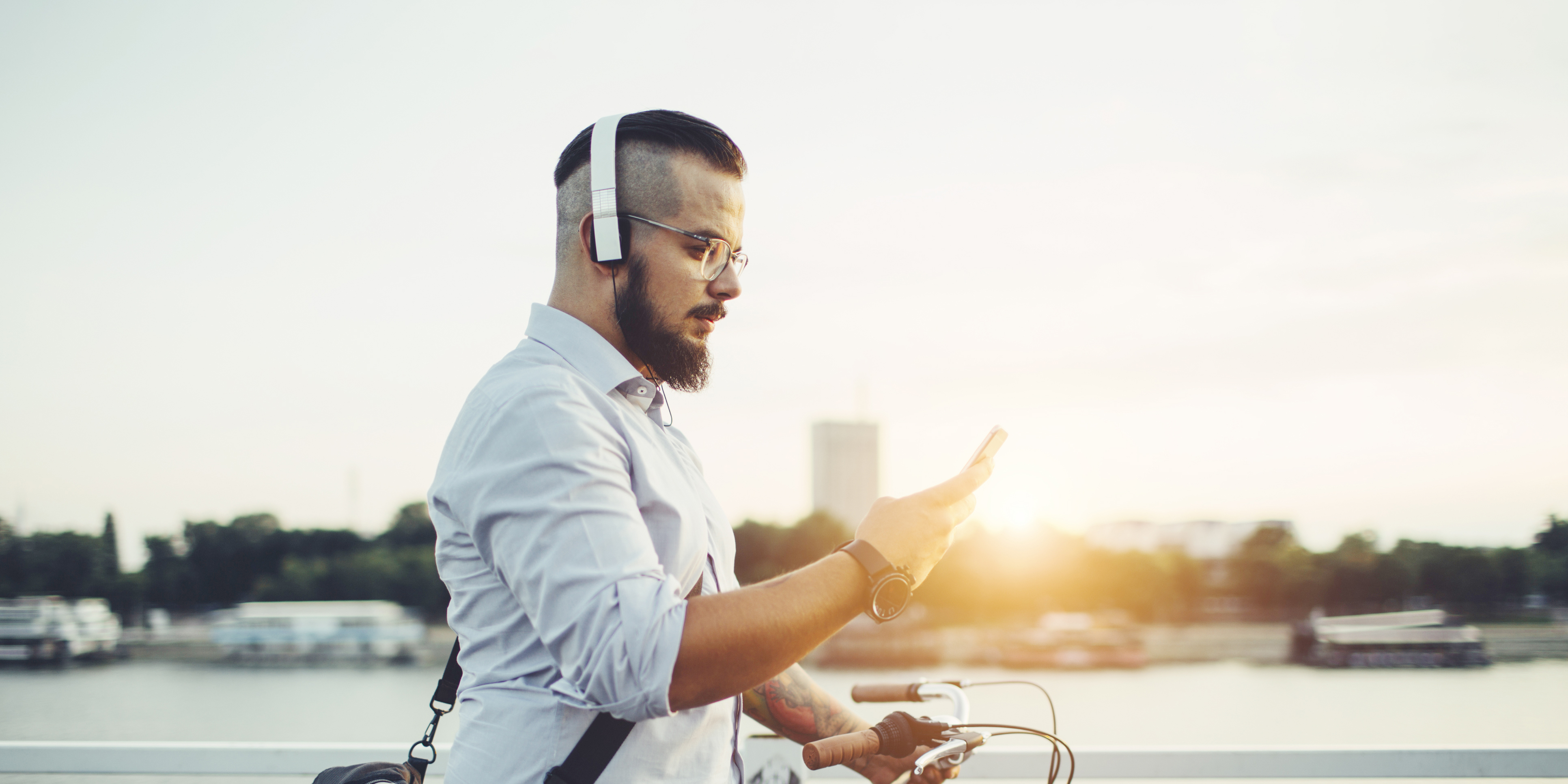 Man listening to his phone - Upstart Personal Loans